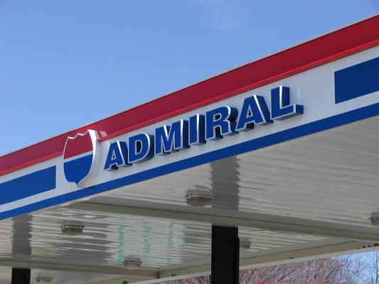 Admiral Petroleum Amor Sign Michigan Traverse City